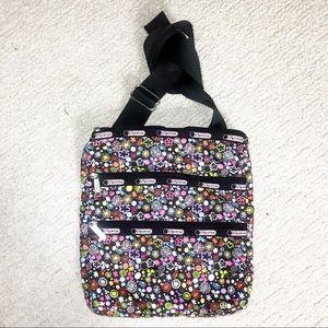 LESPORTSAC Floral Triple Pocket Crossbody Bag